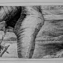 Rysunek długopisem, A5